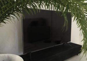 Banc TV en Bois Brûlé